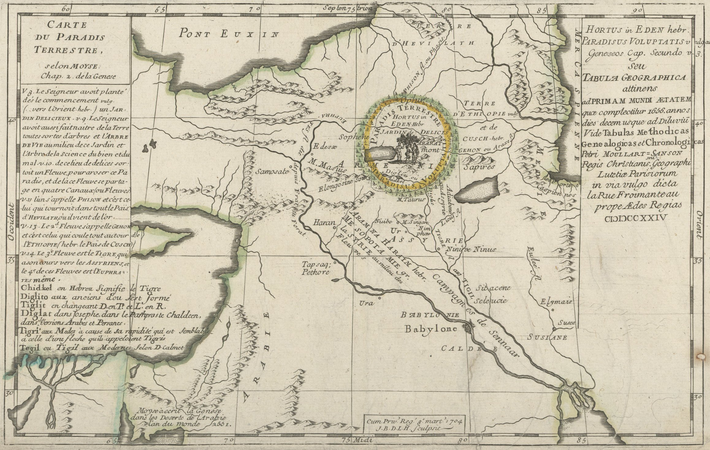 Map of the Earthly Paradise by Moyse, 1724 Source: Bibliothèque nationale de France