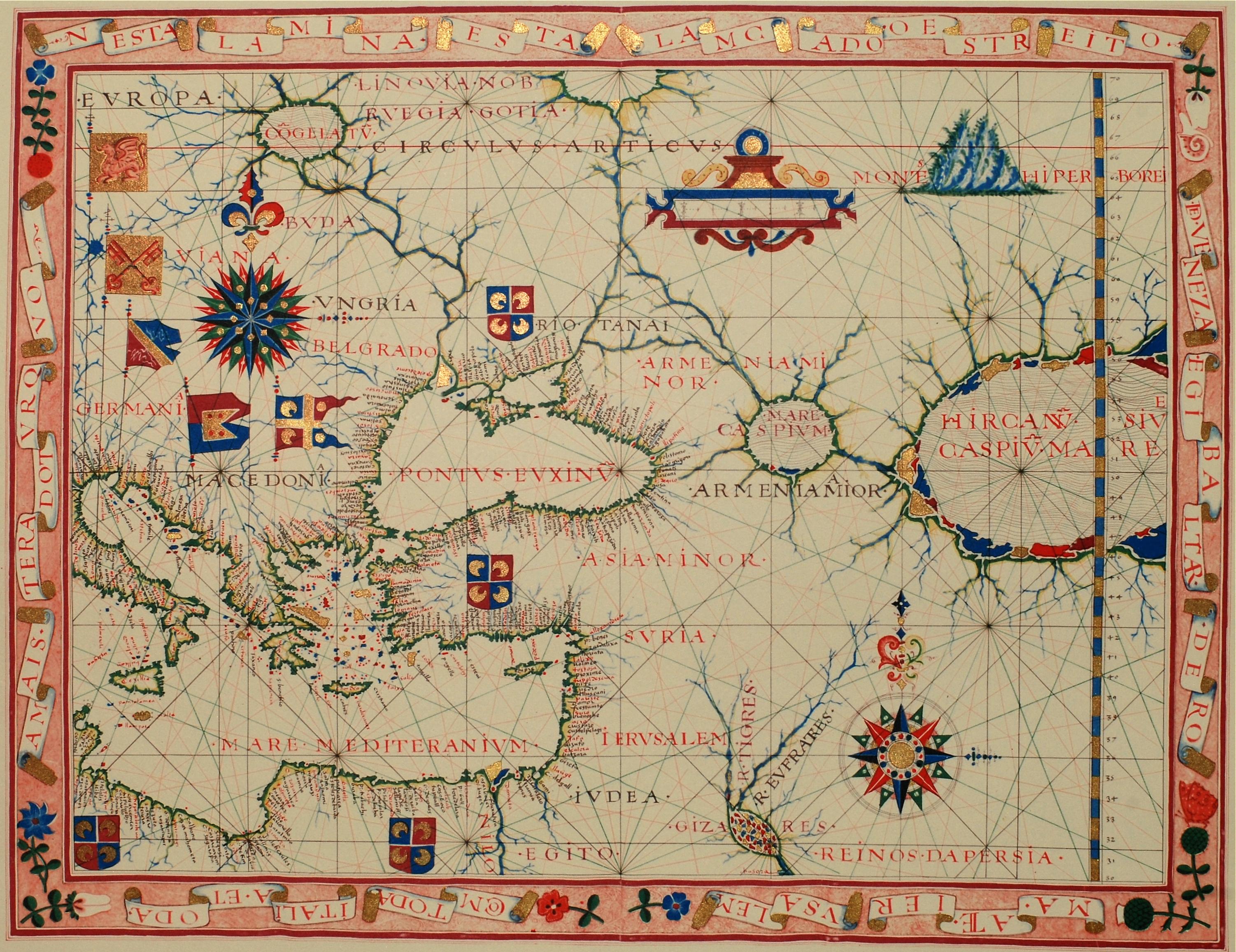 Old Map Of Caucasus Archives PeopleOfAr - Caucasus map