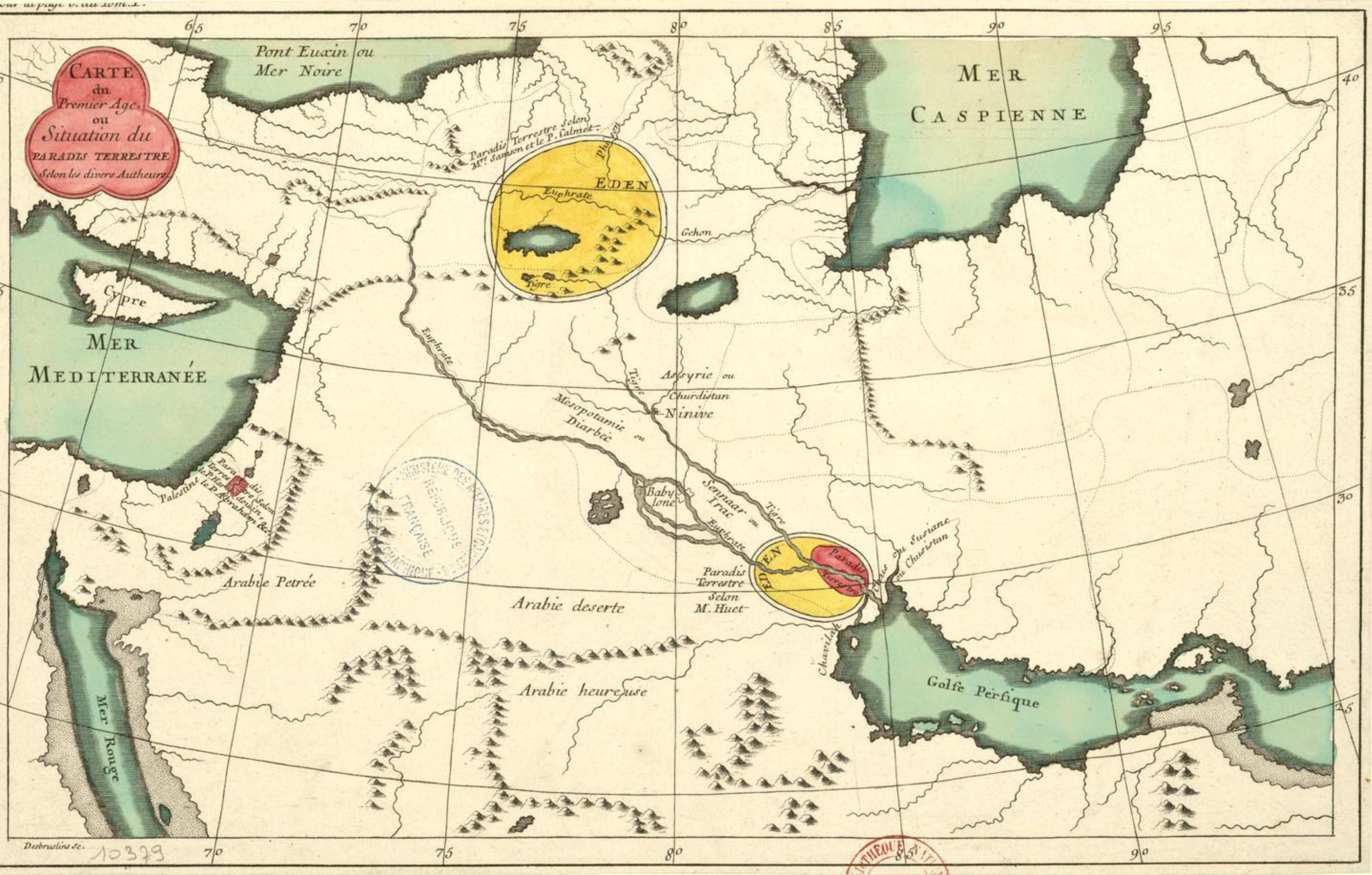 Paradis Terrestre by Desbrulins, F. 1700-1799 source Bibliothèque nationale de France