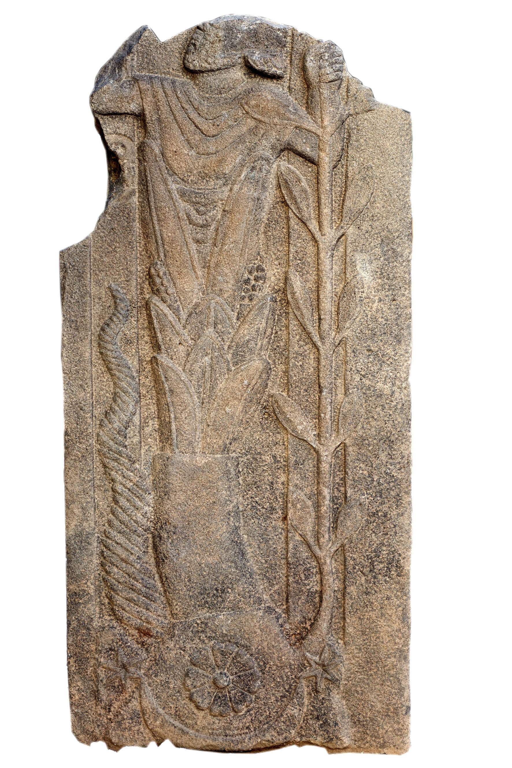 An unknown Roman god was recently unearthed at a sanctuary in southeast Turkey. The god, who is emerging from a plant, is depicted with both Near Eastern and Roman elements, and may have been a baal, or subdeity, of the temple's major god, Jupiter Dolichenus Credit: Peter Jülich
