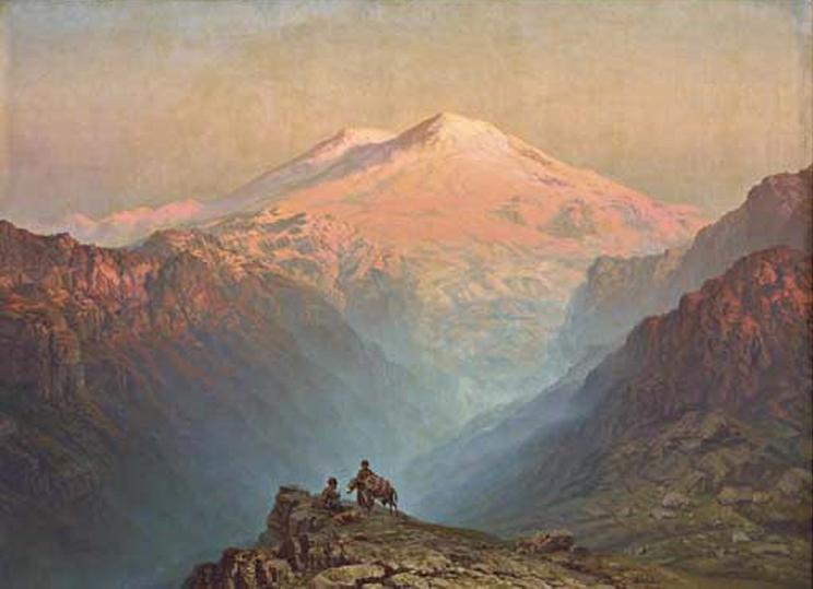 Sunset to the west of Mount Ararat by Ilya Nikolaevich Zankovsky