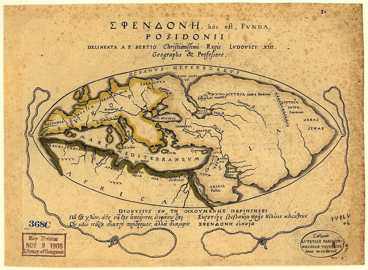 The map of the world according to posidonius 1st c bce peopleofar gumiabroncs Choice Image